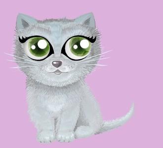 Eine Katze von der Rasse shiny chartreux aufnehmen
